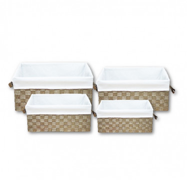4-Piece Set Rectangular Basket