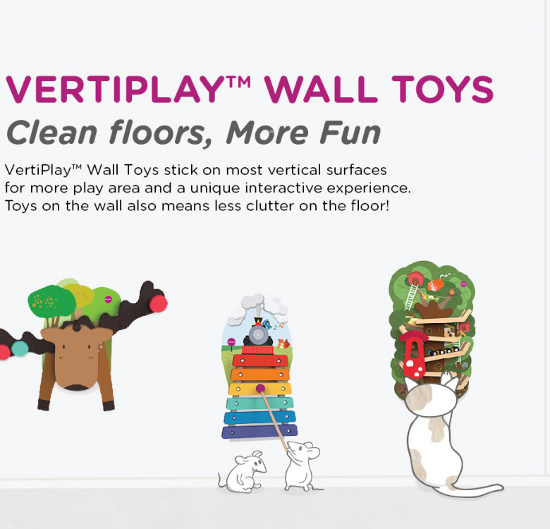 VertiPlay Wall Toy Hoppy Bunny And Friends