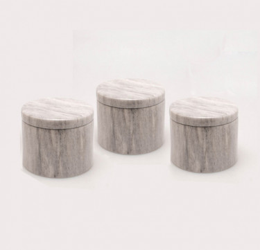 Tall Flat Canister Trio