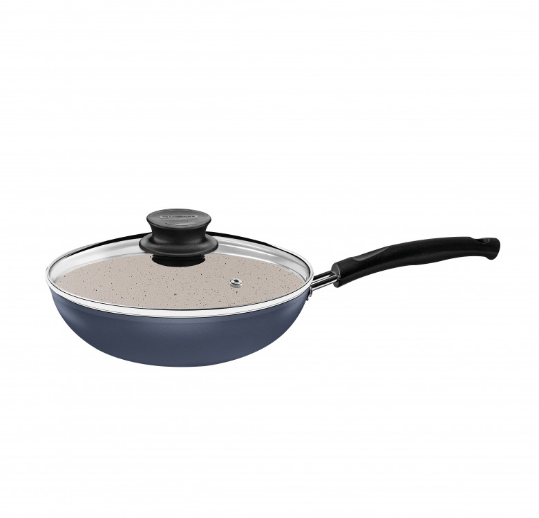 Marble Coated Frying Pan with Lid