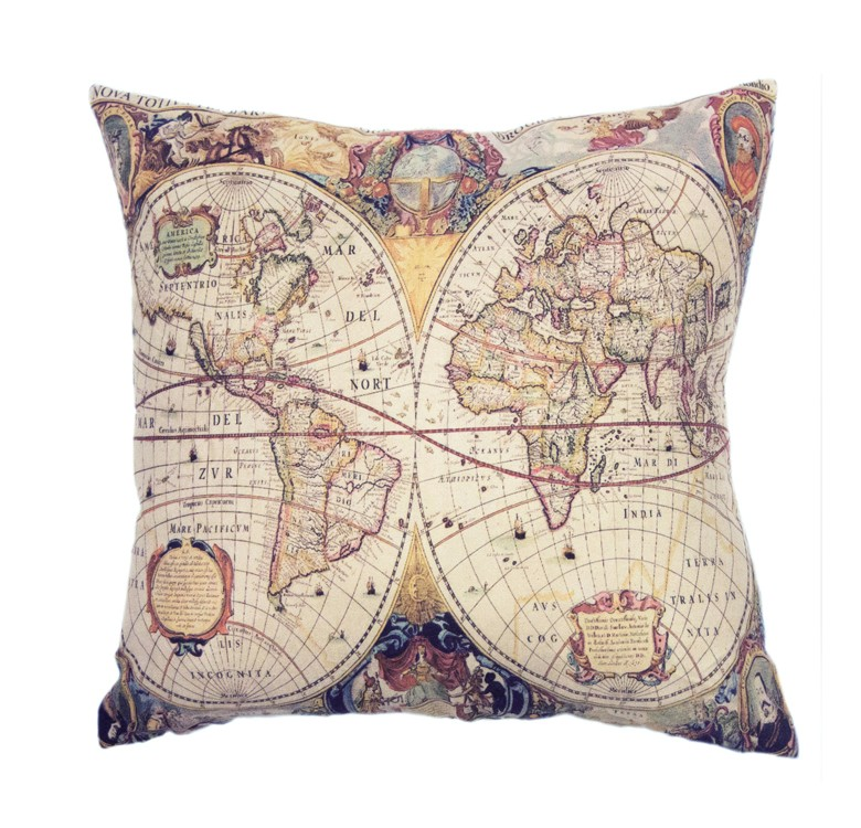 Maps Pillow