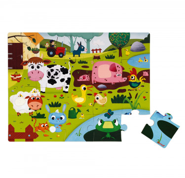Tactile Puzzle Farm Animals 20 Pieces
