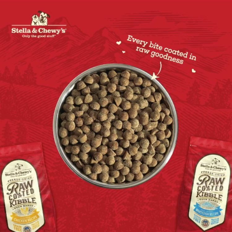 NEW! Stella & Chewy's Freeze-Dried Raw Coated Kibble & Biscuits For Dogs