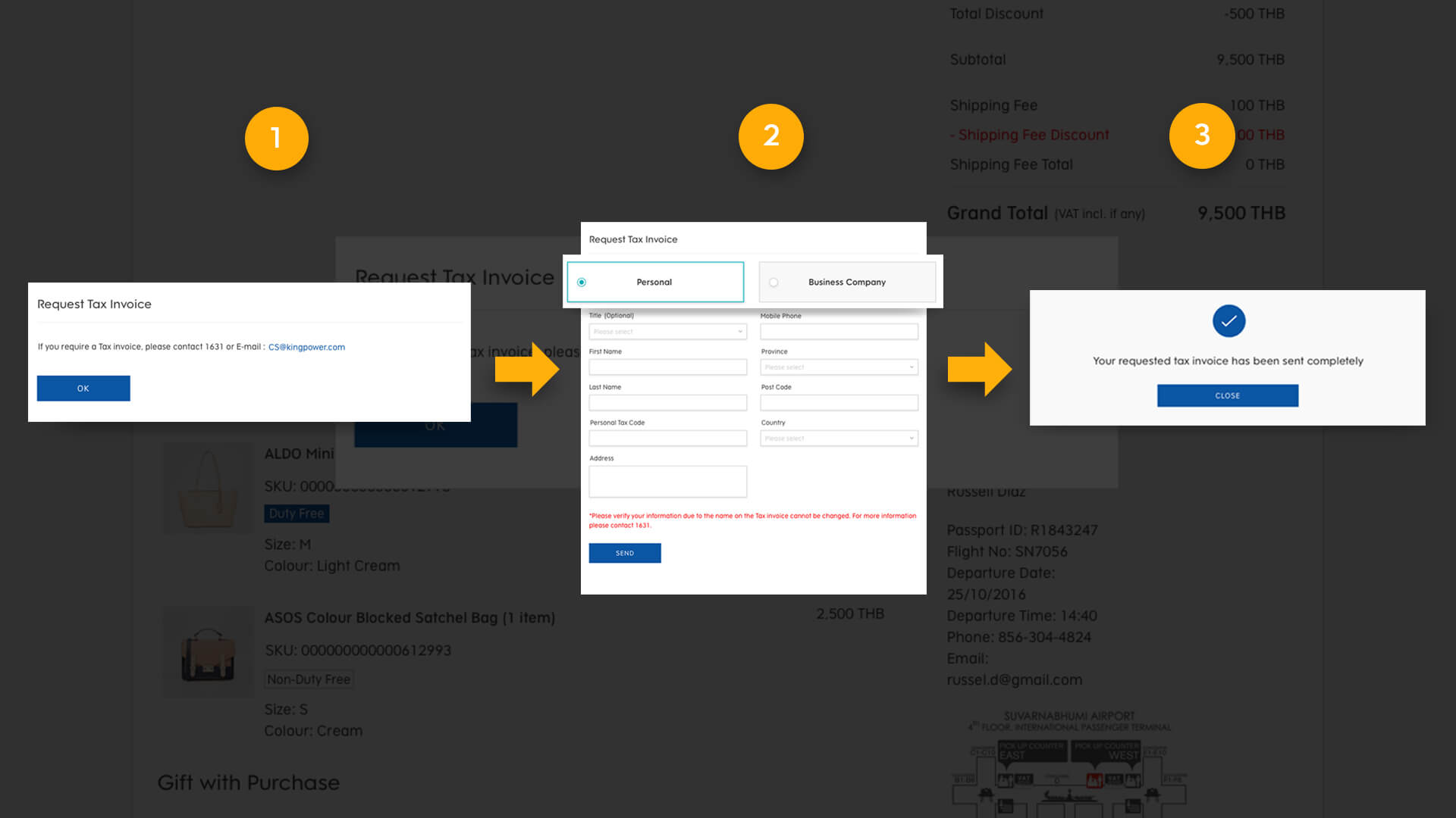 complete Tax invoice request form