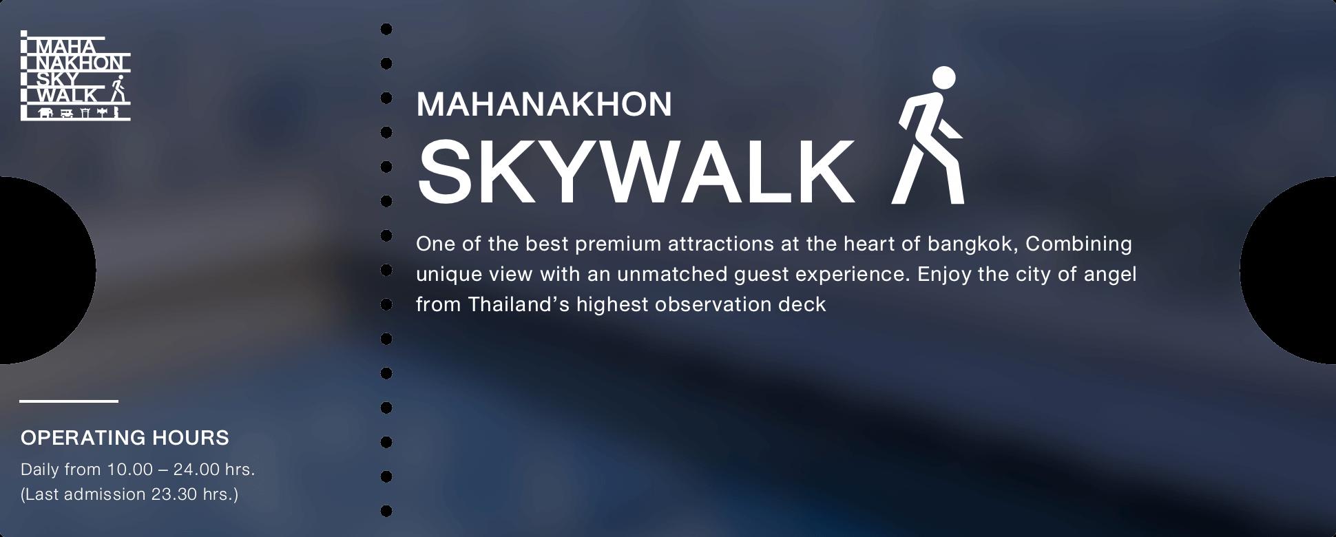 Mahanakhon Skywalk information