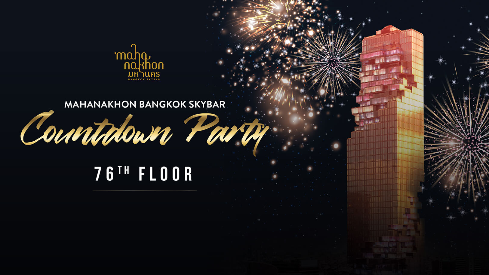Mahanakhon Bangkok SkyBar Countdown Party
