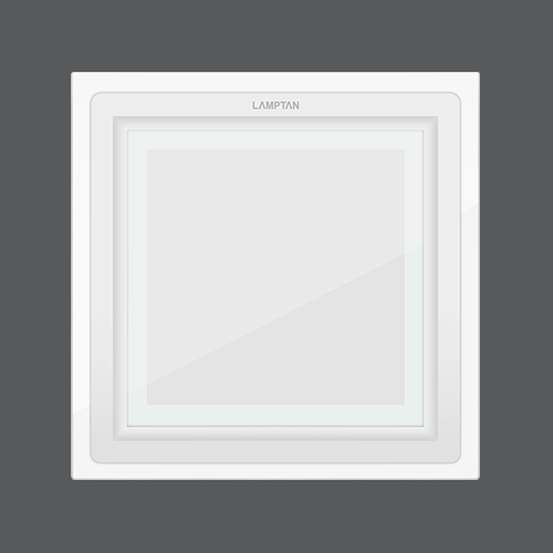 Led downlight glass glow square web3