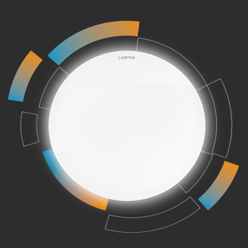 Led multi smart ceiling lamp circle 24w web2