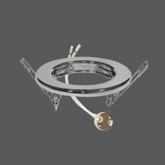 Mr16 fixture gu5.3 silver no adjustable web