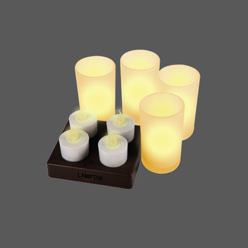 Led candle lamp rechargeable web