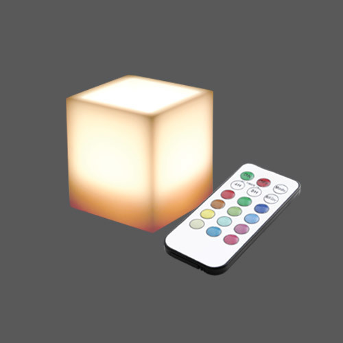 Led square wax multicolour remote control web