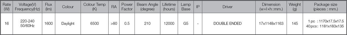 Led tube t5 spec