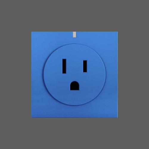 Smart wifi socket blue