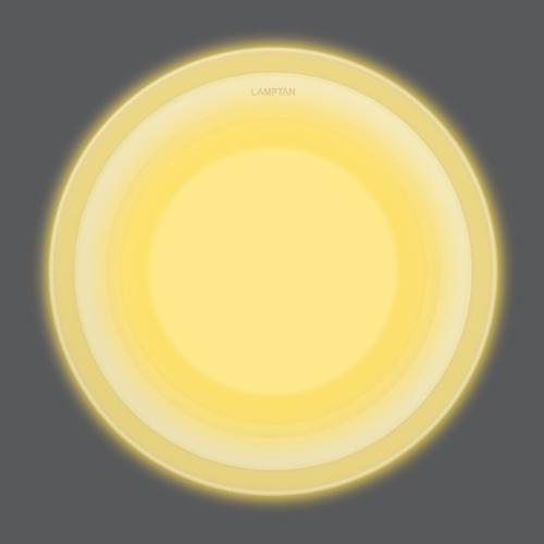 Led glass glow circle front ww web