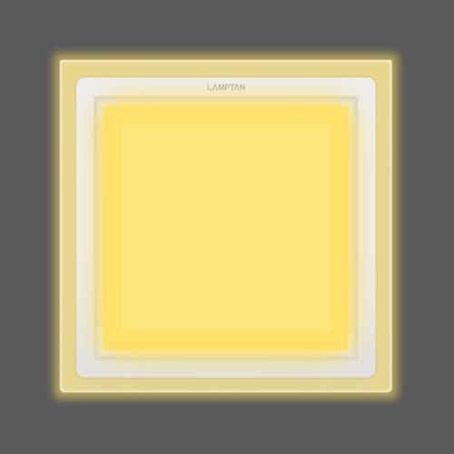 Led glass glow square front ww web