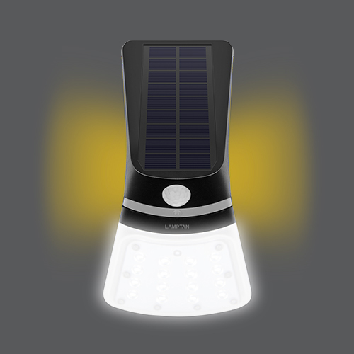 Led solar smart sensor ray 2w front on web02