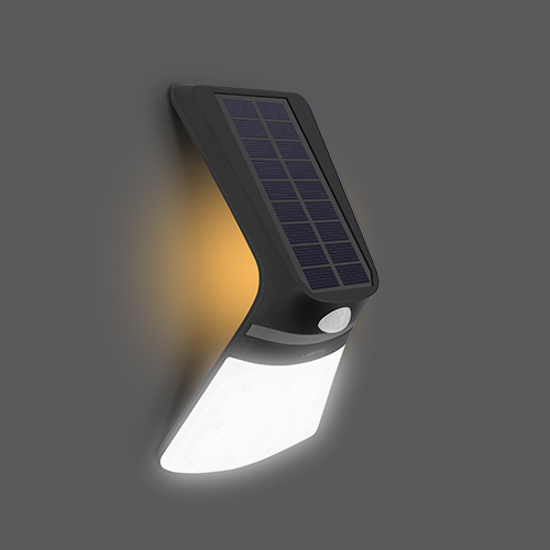 Led solar smart sensor ray 2w shadow flip web04