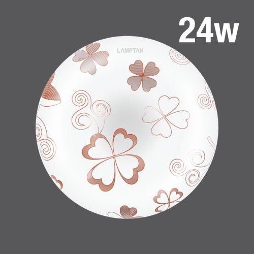 Led ceiling lamp clover 24w web01
