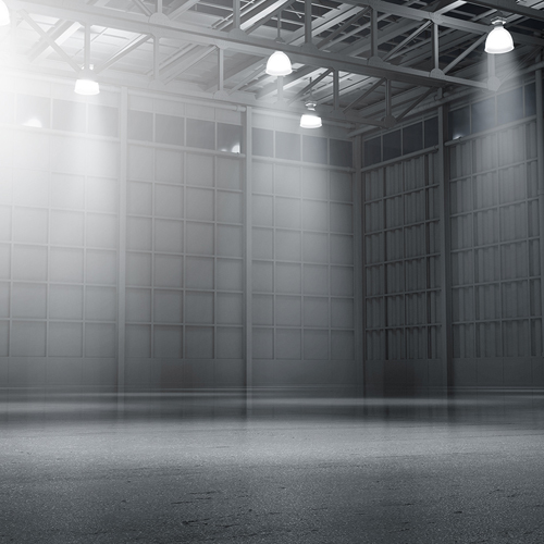 Warehouse empty dark car showroom d rendering web 10