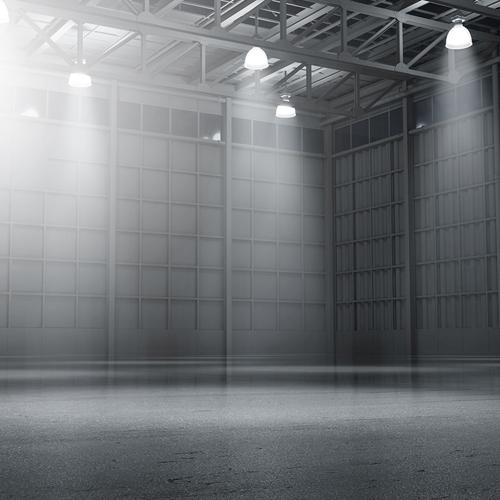 Warehouse empty dark car showroom d rendering web 10