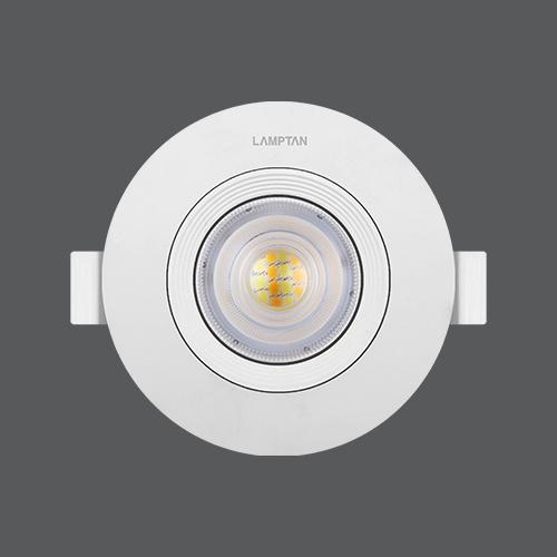Led spotlight colour choice circle 7w front web