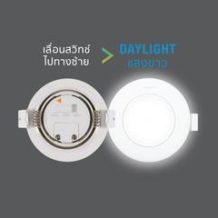 Led spotlight colour choice circle 7w back dl web
