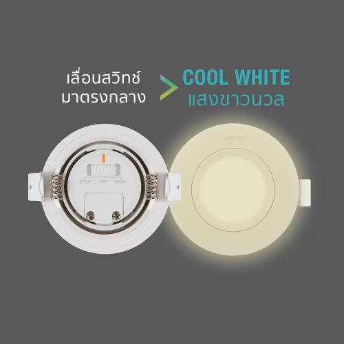 Led spotlight colour choice circle 7w back cw web