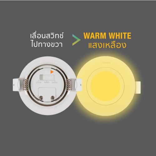 Led spotlight colour choice circle 7w back ww web