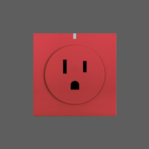 Smart wifi socket red web