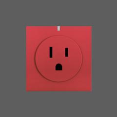 Smart wifi socket red web