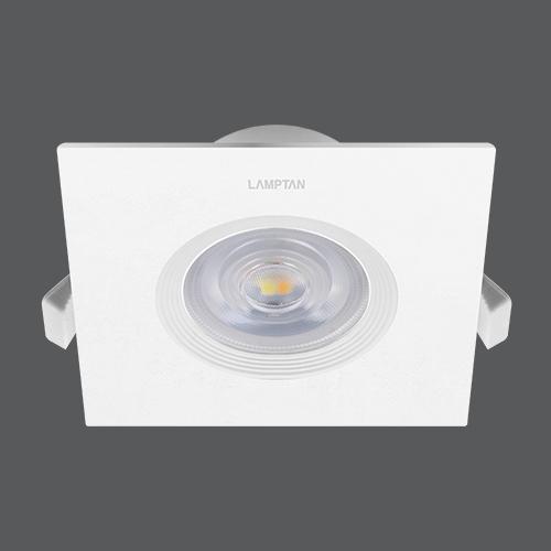 Led spotlight colour choice square 7w per web