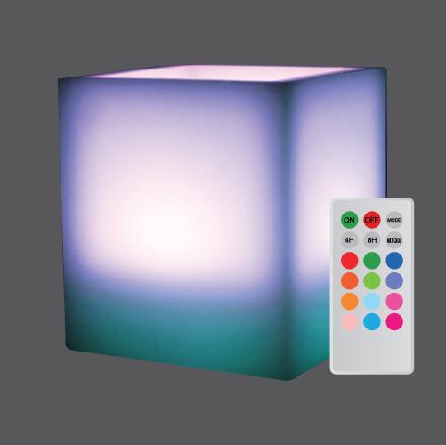 Candle lamp square wax multi colour web1
