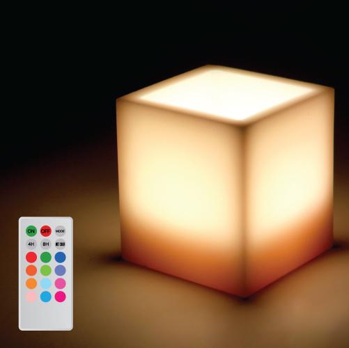 Candle lamp square wax multi colour web4