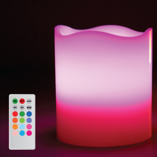 Candle lamp melt edge multi color web6