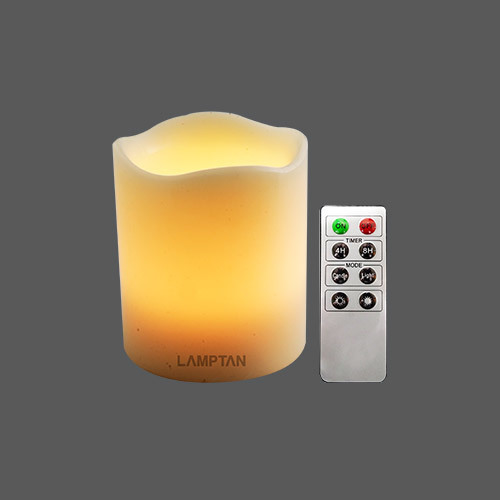 Led melt edge pillar wax remote control web