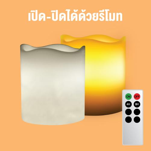Candle lamp melt edge remote web3