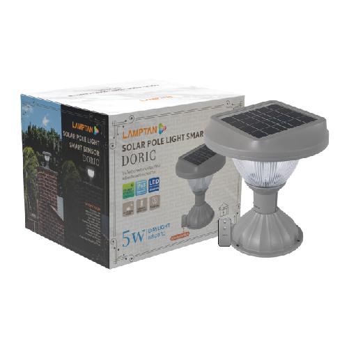 Solar pole light ss doric 6w web 12