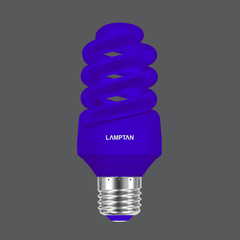 Led spiral colour blue 7w web