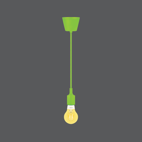 Jolly lamp green bulb web
