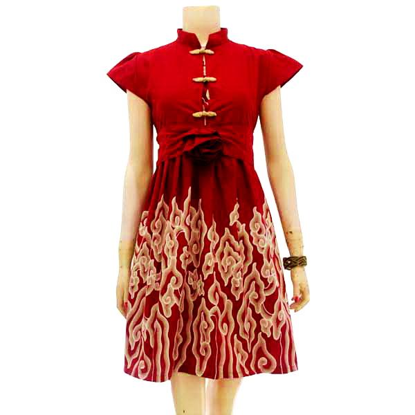 Dress Batik Modern Kombinasi Modern