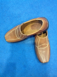 Sepatu Casual Kulit Pria Coklat Tua (khusus grosir)