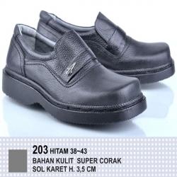 Sepatu Kantor Kulit Corak