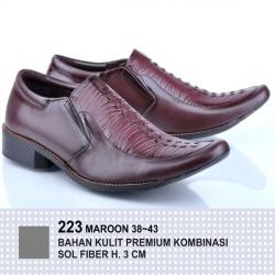 Pantofel Basic Maroon 223