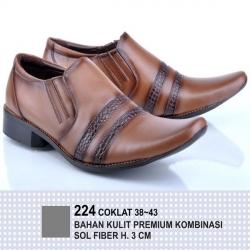 Sepatu Formal Garsel - Coklat Kombinasi