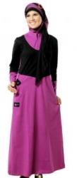 Busana Muslim Wanita (Gamis) Mutif Model 58 Hitam
