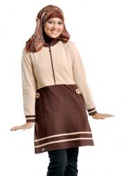 Busana Muslim Wanita (Blus) Model 61 Coklat