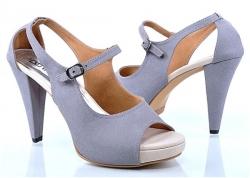 Sepatu High Heels - Biru Putih