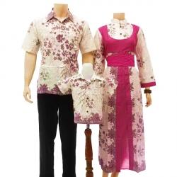 Sarimbit Batik Motif Daun - Kombinasi Pink