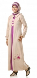 Grosir : Busana Muslimah Mutif 38 Krem - Purple