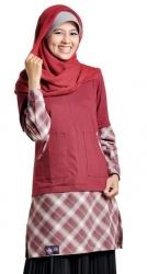 Grosir : Blouse Mutif 43 Merah Hati